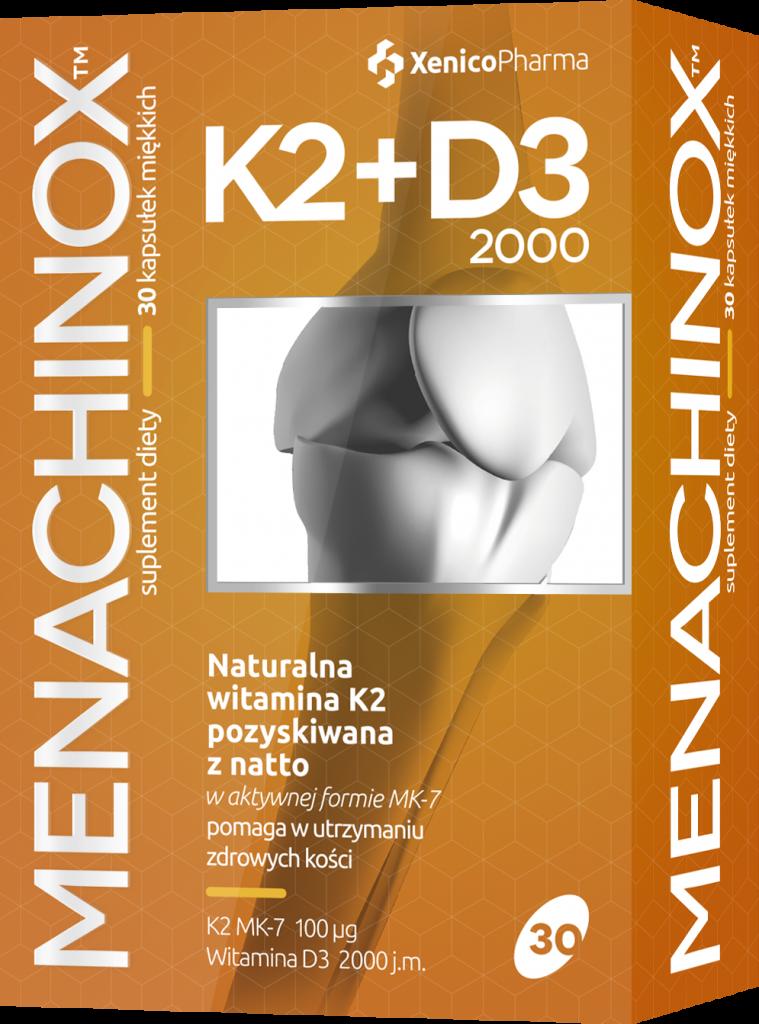 Naturalna witamina K2+D3 2000, naturalna witamina D3